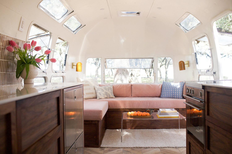 pink themed caravan
