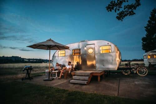 A nice caravan set up